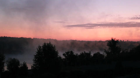 Sunrise Mist Stock Video Footage