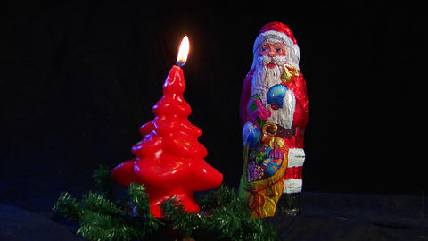 10611 kill santa claus nicolas axe christmas slowm Stock Video Footage