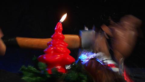 10611 kill santa claus nicolas axe christmas slowm Stock Video Footage