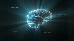 flare light brain with random timecode Stock Video Footage