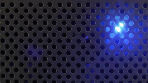 Blue Flashing Light Industrial Footage