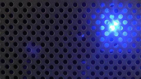 Blue Flashing Light Industrial Stock Video Footage
