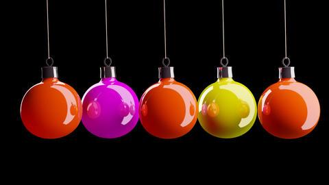 beautiful Christmas balls Stock Video Footage