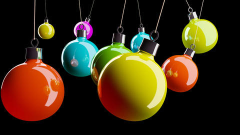 beautiful Christmas balls Stock Video Footage