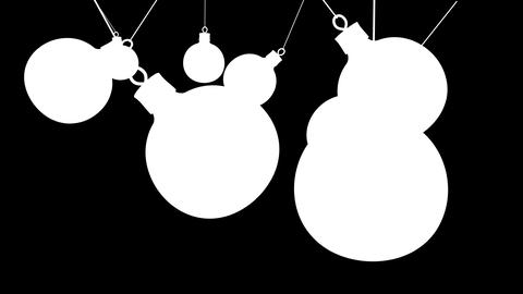 beautiful Christmas balls Animation