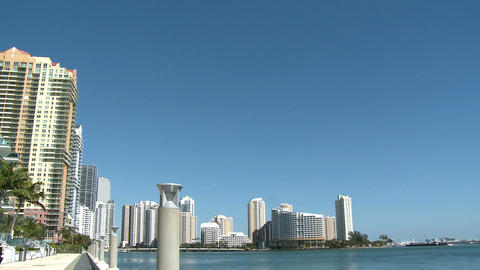 Luxurious apartment buildings in downtown Miami Footage