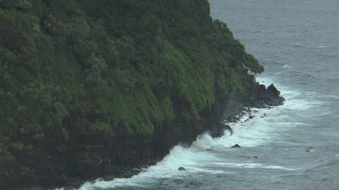 rough high cliffs and coastline at maui, hawaii Footage