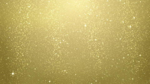gold glitter particles falling seamless loop CG動画素材