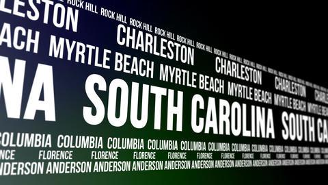 South Carolina State and Major Cities Scrolling Ba CG動画
