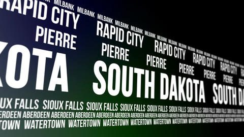 South Dakota State and Major Cities Scrolling Bann CG動画