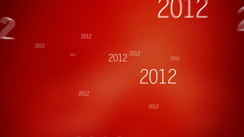 New Year 2015 Red Animation