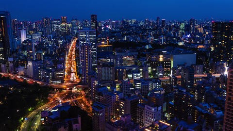 Tokyo Cityscape time-lapse Footage