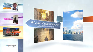 Multi Scenes Ribbons Presentation - After Effects Template After Effects Project