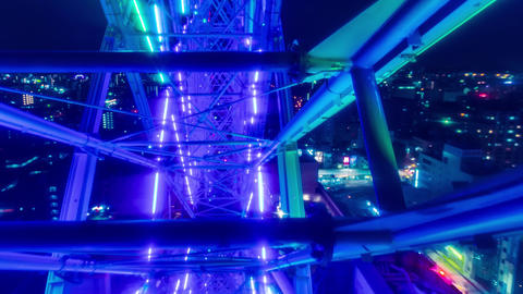 Ferris wheel POV time lapse (hyperlapse) above the ภาพวิดีโอ