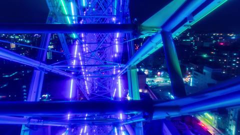 Ferris wheel POV time lapse (hyperlapse) above the Footage