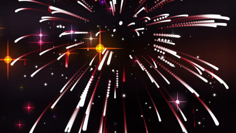 Dynamic movement with stars and fireworks Animation