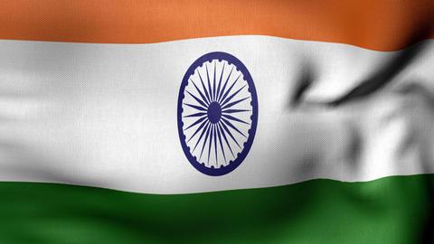 India flag 4 K Animation