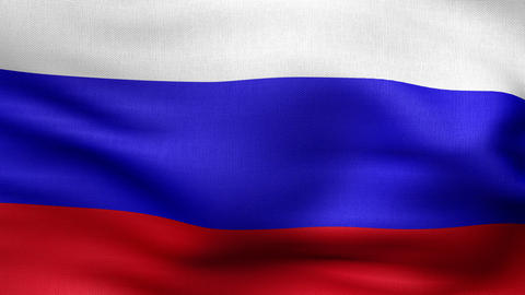 Russian Flag 4 K stock footage