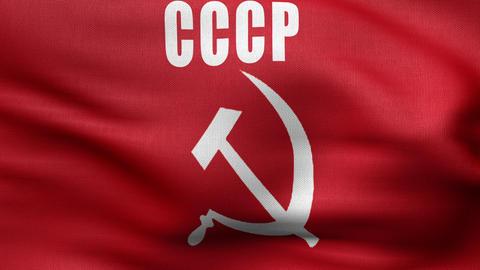 USSR Serp Flag 4 K stock footage