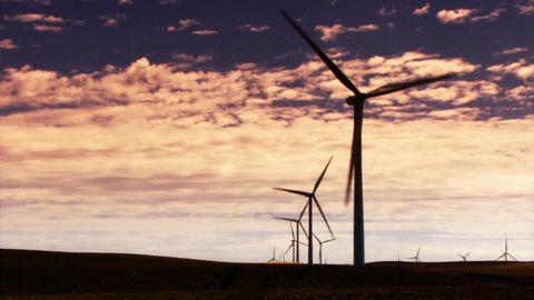 Wind Turbines 3015 stock footage