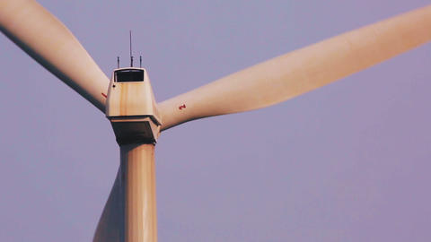Telephoto shot of a white windmill Footage