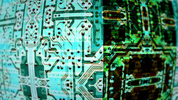 Circuit Board Video Background 1458 stock footage