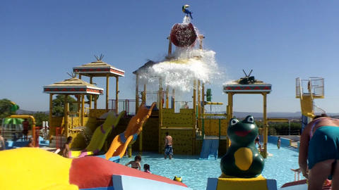 Aqualand Water Fun stock footage