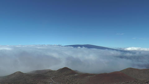 Time Lapse Clouds View From Summit Of Mauna Kea stock footage