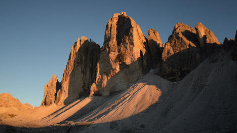sunset time lapse tre cime de lavaredo zoom 11564 Footage