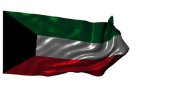 State Of Kuwait Looping Flag With Alpha Channel stock footage