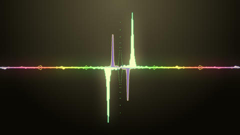 Audio Spectrum stock footage