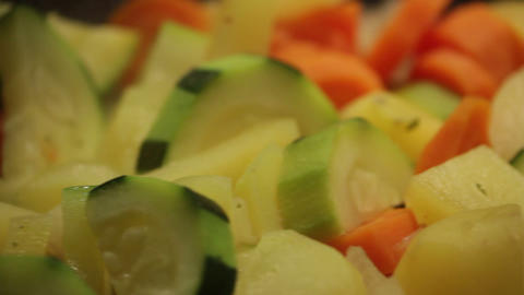 Vegetables Cooking stock footage