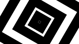 Squares Concentric BnW stock footage