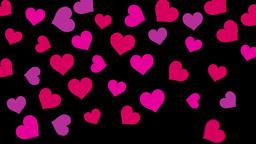 Valentines Hearts BG Footage