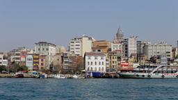 istanbul skyline galata bosphorus 4k Footage