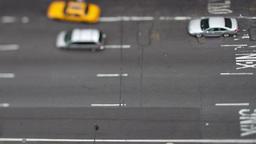 manhattan street scene traffic new york taxi Footage