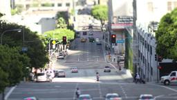 raffic on freeway in downtown los angeles Footage