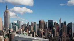 new york manhattan skyline NYC ny 4k Footage