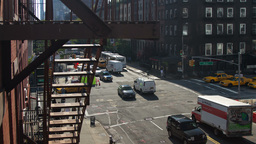 street new york manhattan skyline NYC ny 4k Footage
