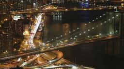 brooklyn bridge new york manhattan skyline NYC ny 4knight Footage