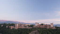 alhambra granada timelapse sunset 4k Footage
