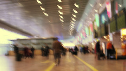 barcelona airport rush passengers terminal 4k Footage
