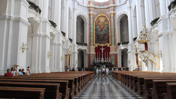 Dresden, Germany. Interior of Hofkirche - Cathedra Footage