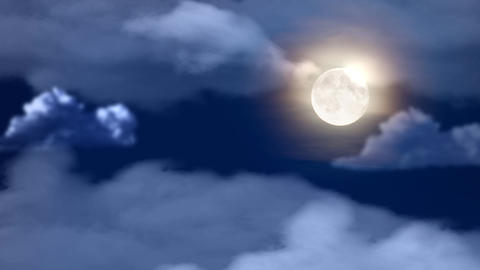 Clouds and Moon Animation