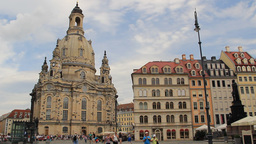 The Dresden Frauenkirche - Church of Our Lady. Ger Footage