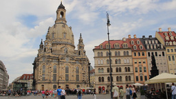 The Dresden Frauenkirche - Church of Our Lady and  Live Action