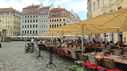 Restaurant in the old town - Dresden, Germany Live Action