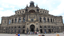 Dresden Semper Opera, Germany. Saxon State Opera stock footage