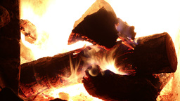 log fire burning in a fireplace Footage