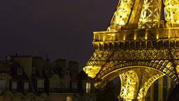 eiffel tower closeup, paris france 4k Footage